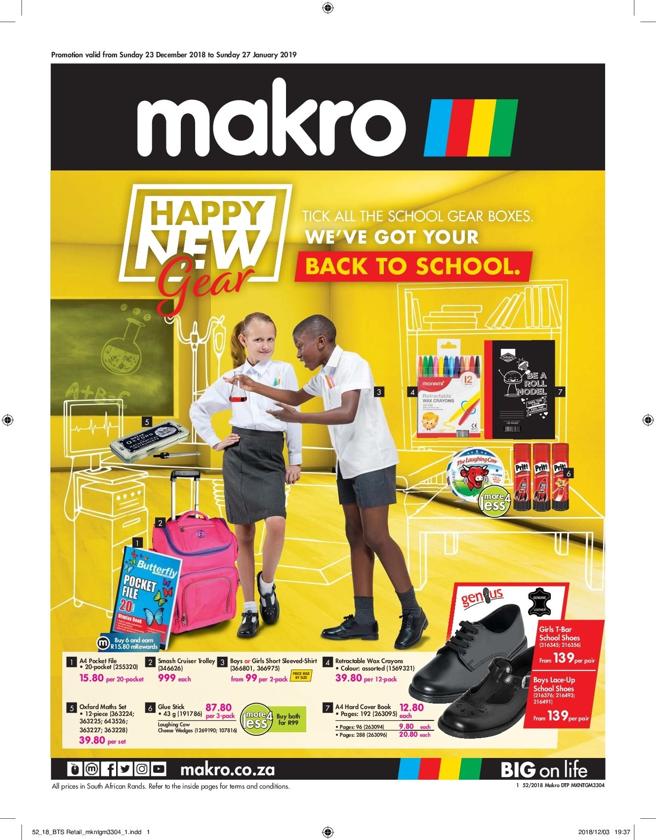 Makro special - 12.23.2018 - 01.27.2019 - Sales products - shirt, shoes, trolley. Page 1.