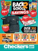 Checkers special - 12.31.2018 - 01.27.2019 - Sales products - backpack, bic, bundle, stand, stick.