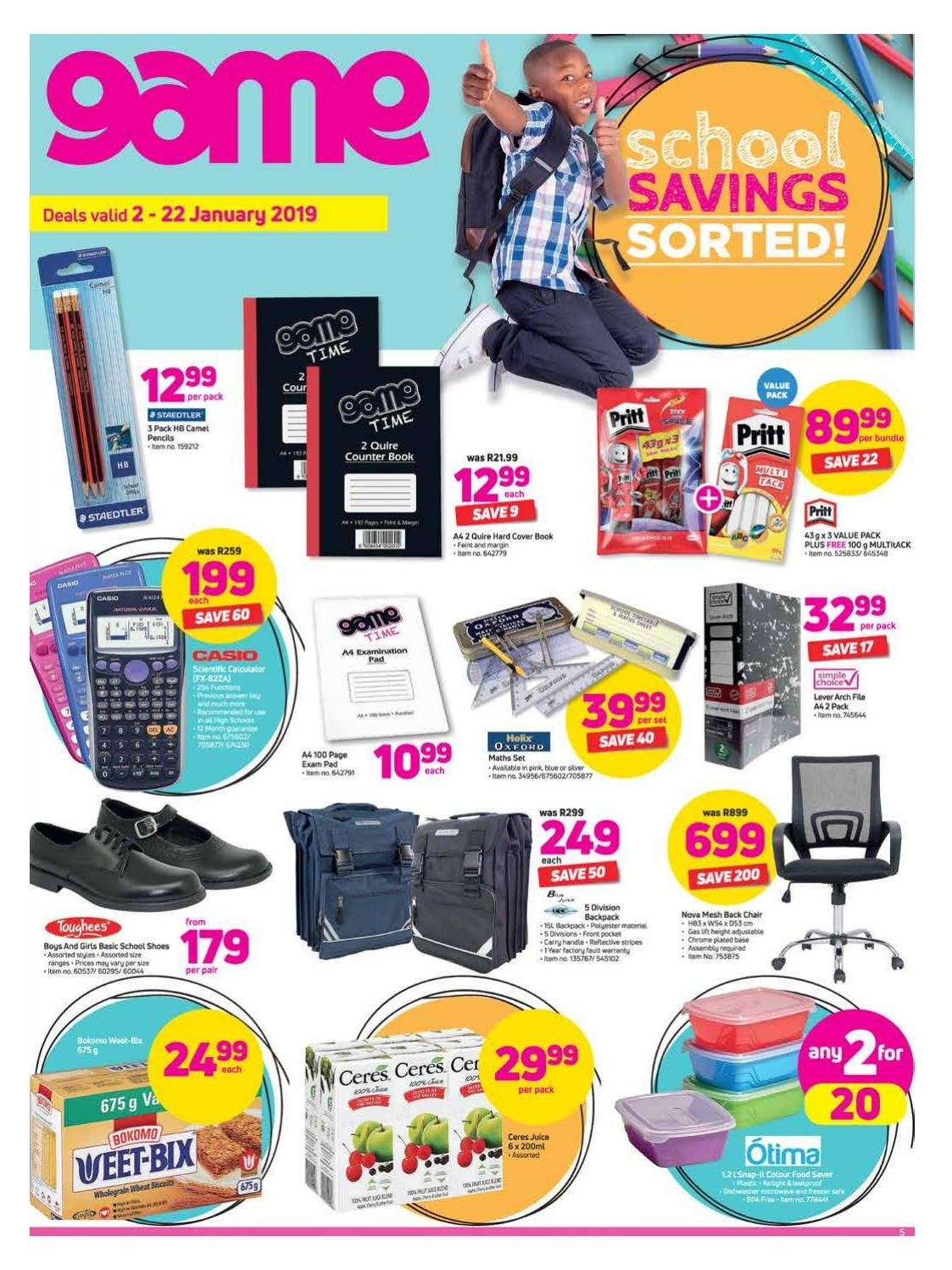 Game special - 01.02.2019 - 01.22.2019 - Sales products - backpack, casio, cover, shoes, chair, pad. Page 1.