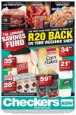 Checkers special - 01.04.2019 - 01.20.2019 - Sales products - beer, corn, milk, prawns, steak, seafood, corn flakes, wine, liquor, fruit juice, juice, flakes.