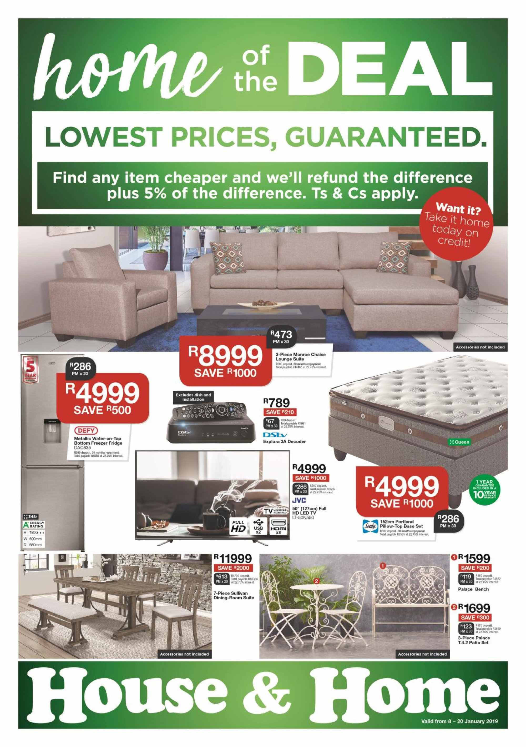 House & Home catalogue  - 01.08.2019 - 01.20.2019. Page 1.
