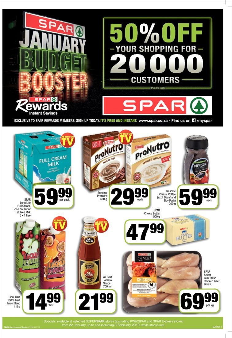 SPAR catalogue  - 01.22.2019 - 02.03.2019. Page 1.