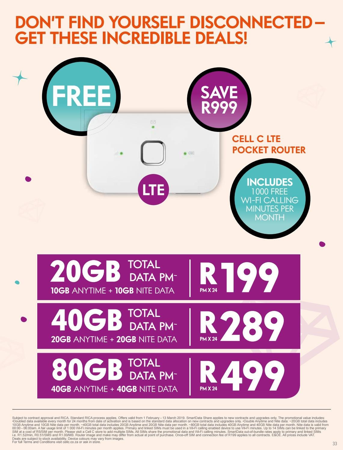 cell c wifi deals 2019