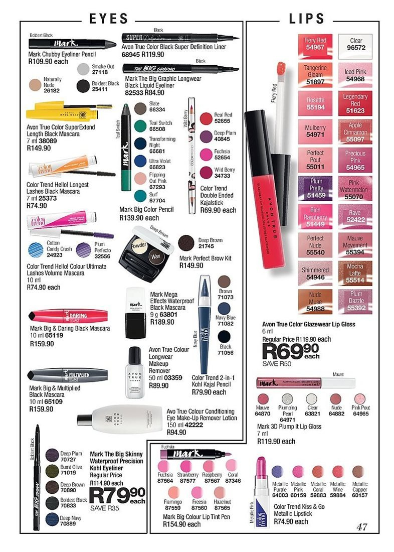 9c8e7d2b4c9 Avon special - 03.01.2019 - 03.31.2019 - Sales products - lip gloss