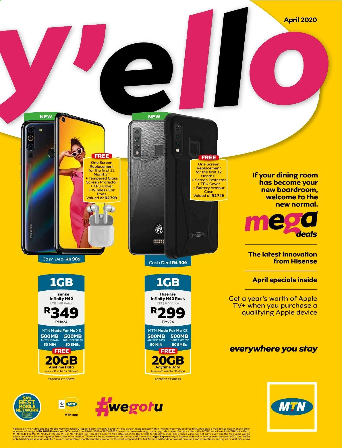 MTN catalogue  - 04.01.2020 - 04.30.2020. Page 1.