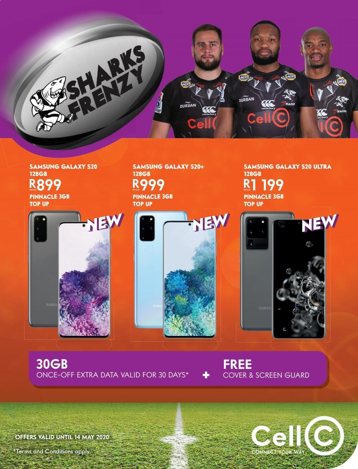 Cell C catalogue  - 05.01.2020 - 05.14.2020 - Sales products - Samsung Galaxy, Samsung, Samsung Galaxy S, Samsung Galaxy S20. Page 1.