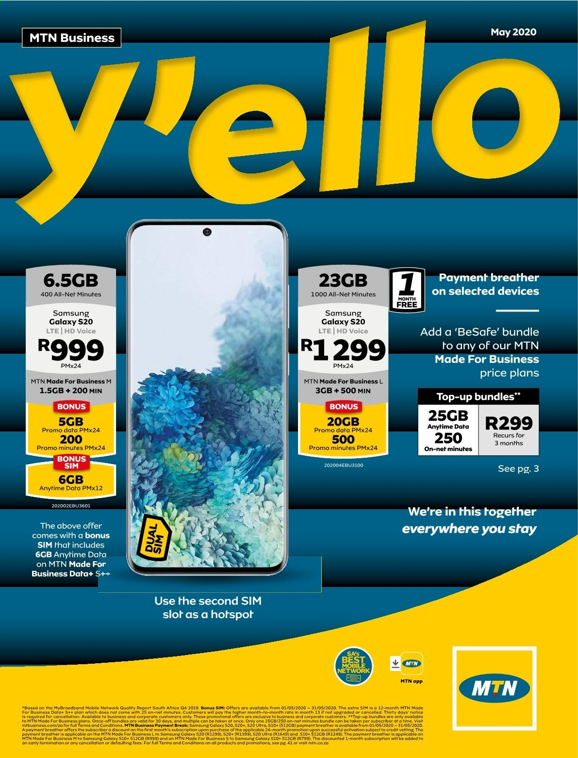 MTN catalogue  - 05.01.2020 - 05.31.2020. Page 1.