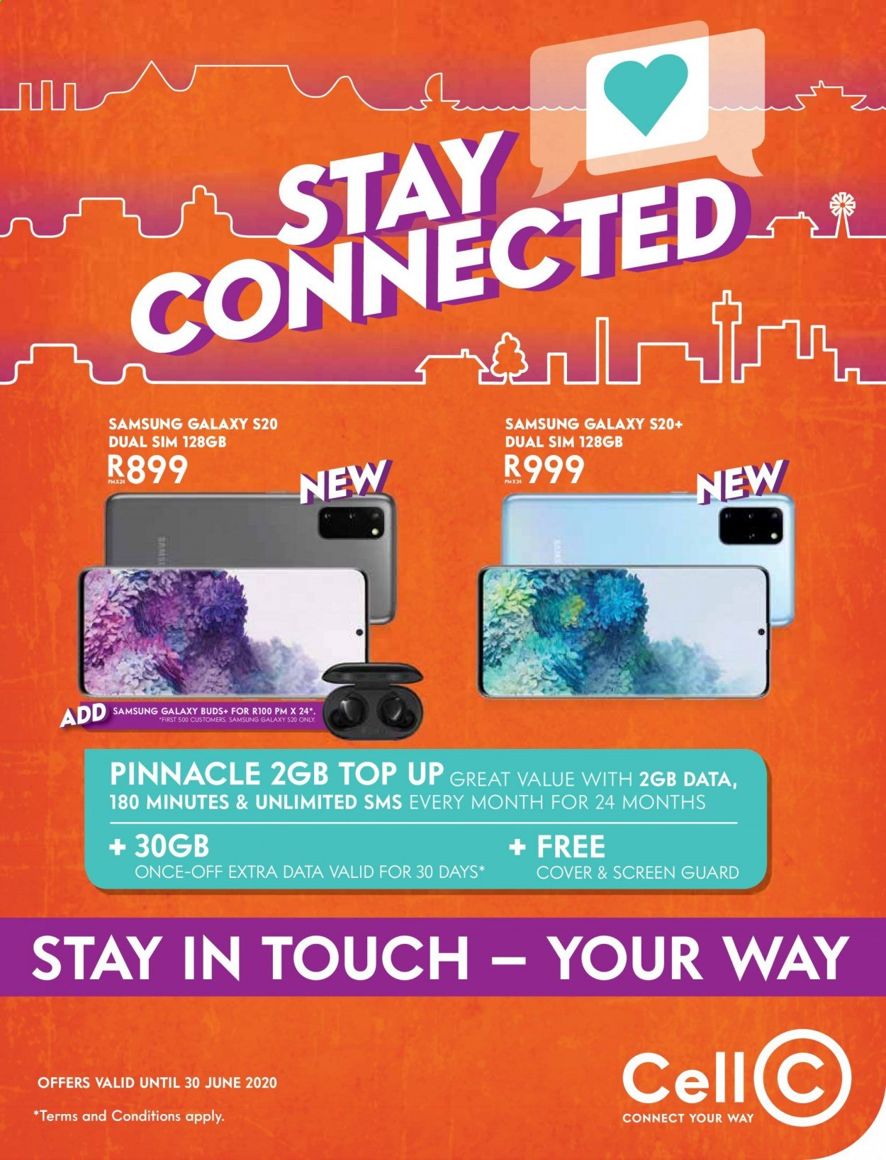 Cell C catalogue  - 05.15.2020 - 06.30.2020 - Sales products - Samsung Galaxy, Samsung, Samsung Galaxy S, Samsung Galaxy S20. Page 1.