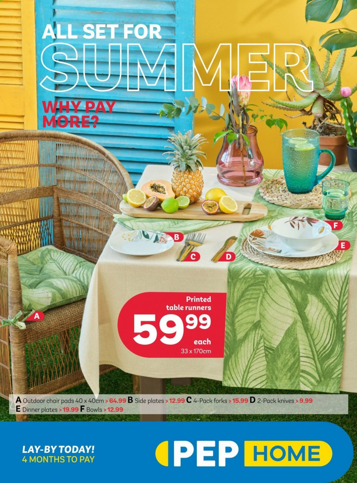 PEP Stores catalogue  - 08.27.2020 - 09.30.2020 - Sales products - bowl, knife, table, table runner, chair. Page 1.