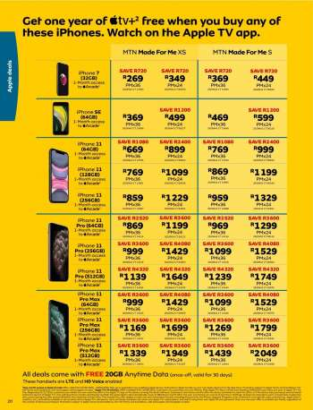 Iphone 7 Mtn Deals And Prices My Catalogue