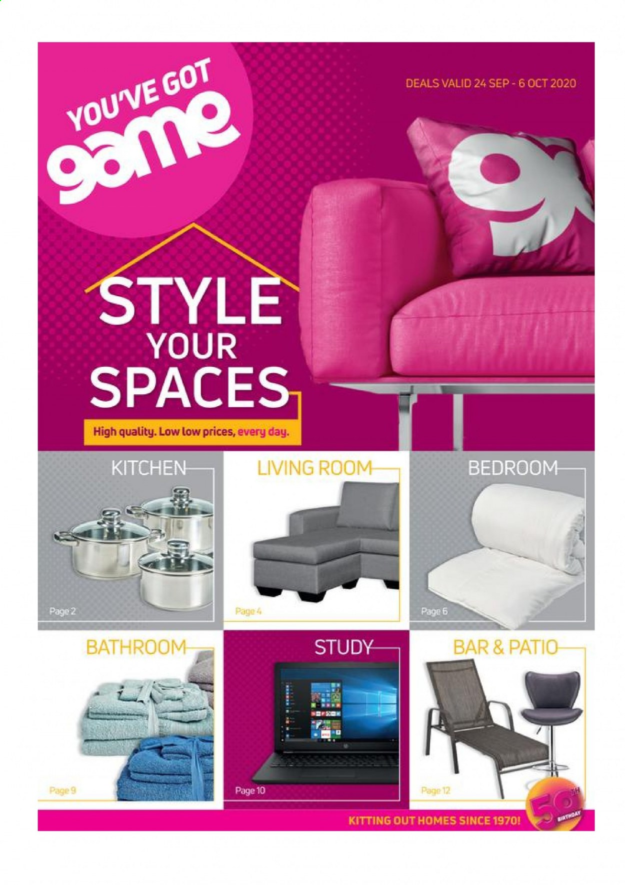Game catalogue  - 09.24.2020 - 10.06.2020 - Sales products - bathroom, patio. Page 1.