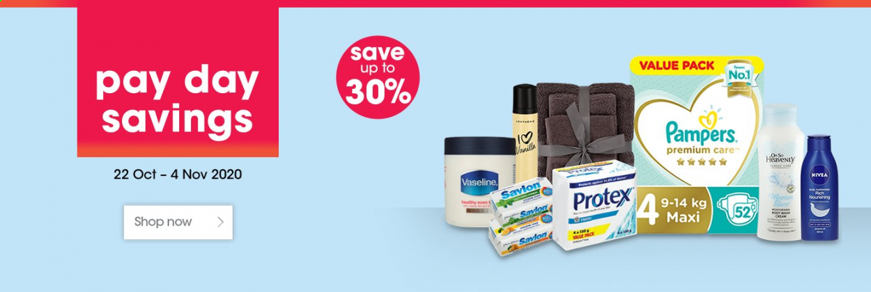 Clicks catalogue  - 10.22.2020 - 11.04.2020 - Sales products - pampers, nivea, nourishing. Page 1.