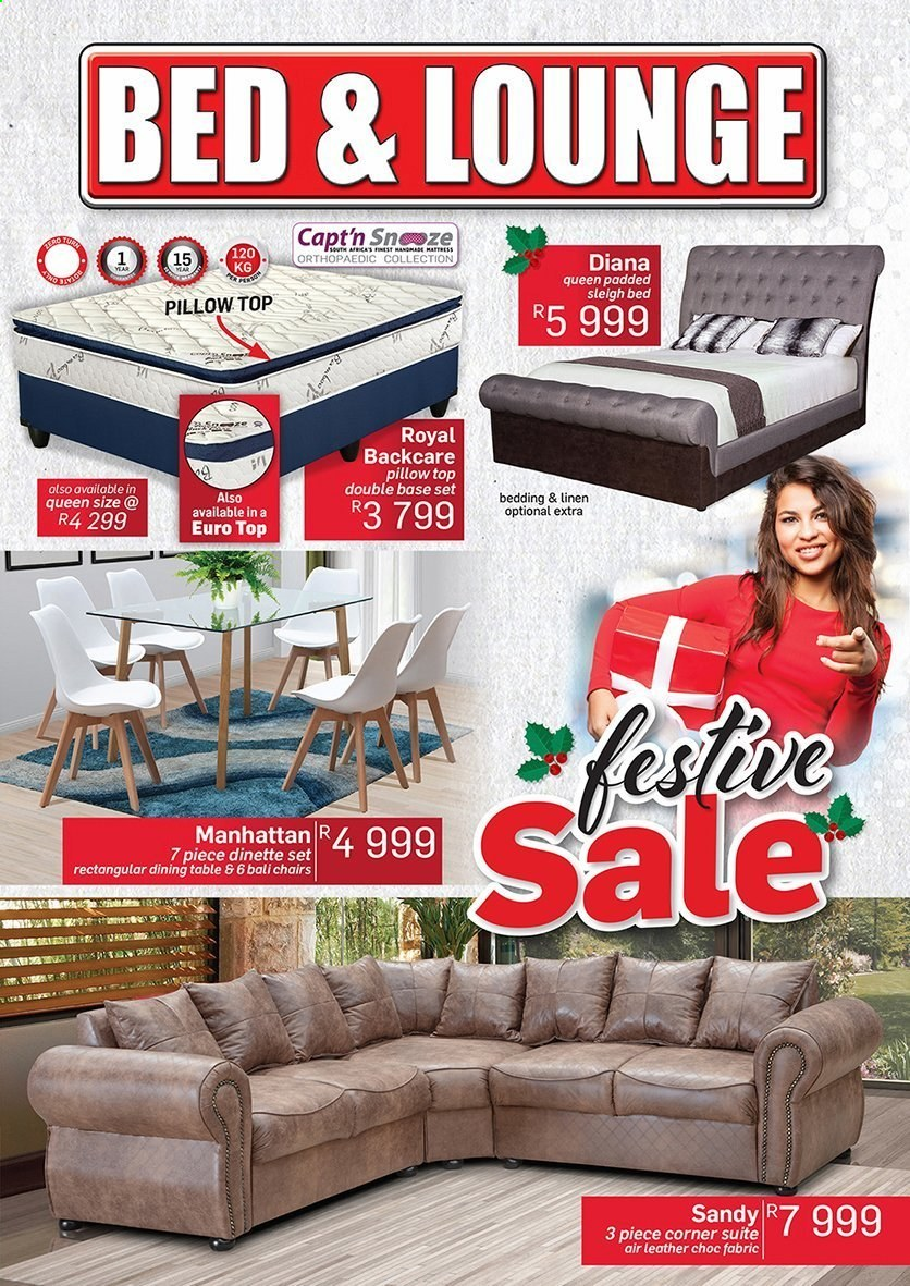 Bed & Lounge catalogue  - 11.01.2020 - 12.24.2020 - Sales products - bed, bedding, dining table, mattress, table, chair, pillow. Page 1.