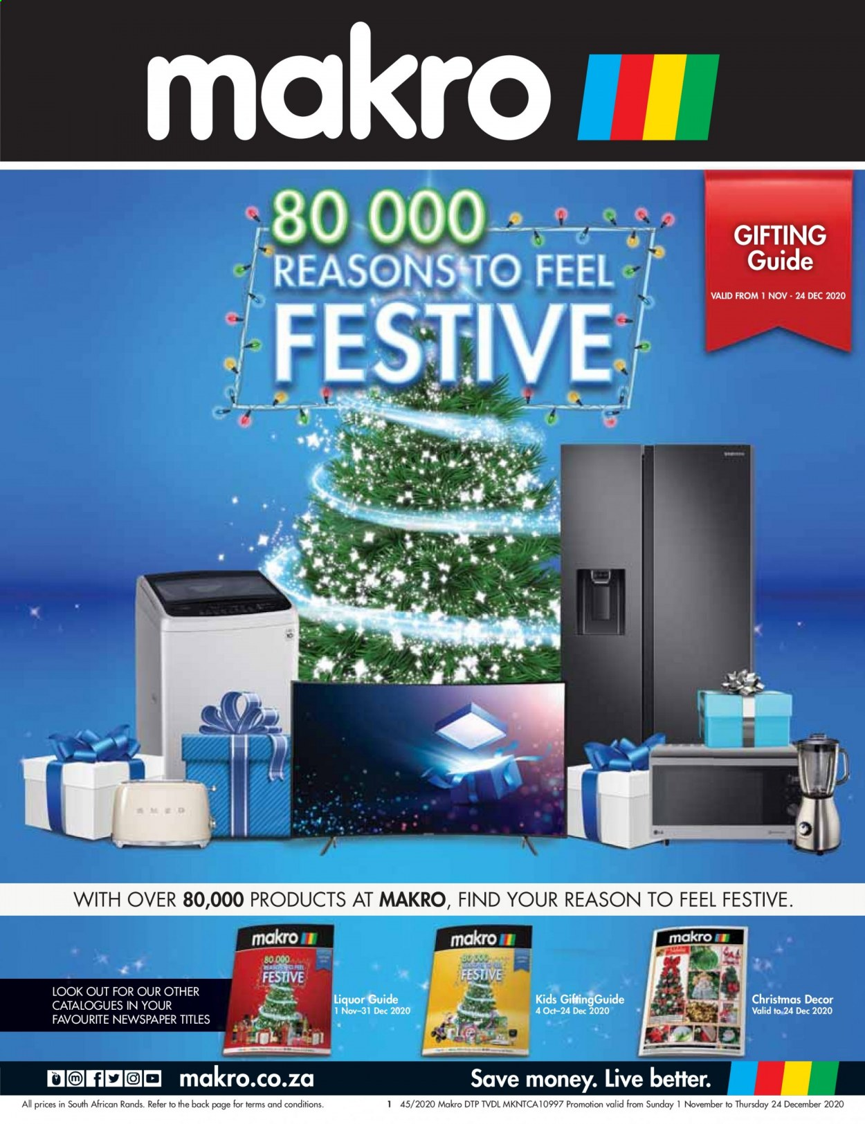 Makro catalogue  - 11.01.2020 - 12.24.2020 - Sales products - liquor, christmas decor. Page 1.
