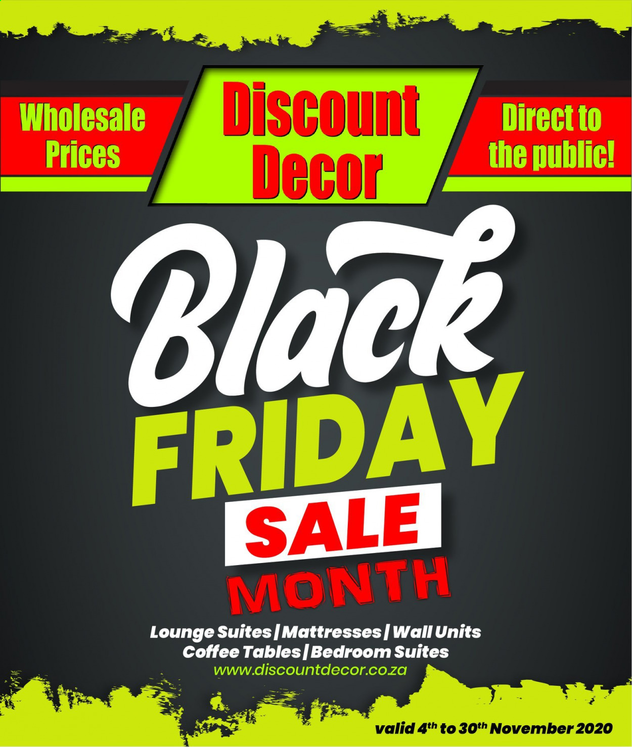 Discount Decor catalogue  - 11.04.2020 - 11.30.2020 - Sales products - coffee, mattress, table, black friday. Page 1.