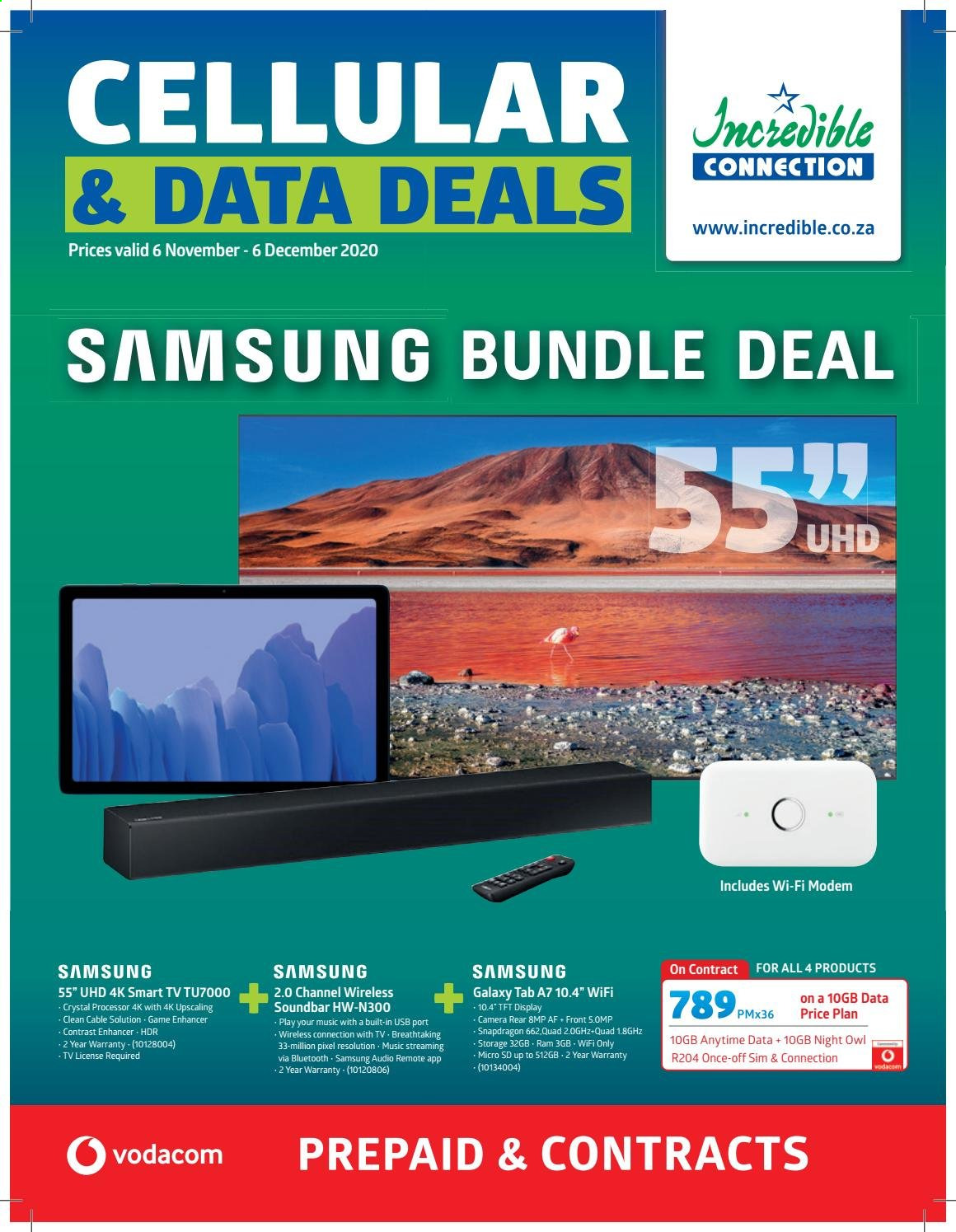 Incredible Connection catalogue  - 11.06.2020 - 12.06.2020 - Sales products - camera, galaxy, samsung, smart tv, soundbar, wifi, channel, owl, processor, wireless, game, cable, modem, usb. Page 1.