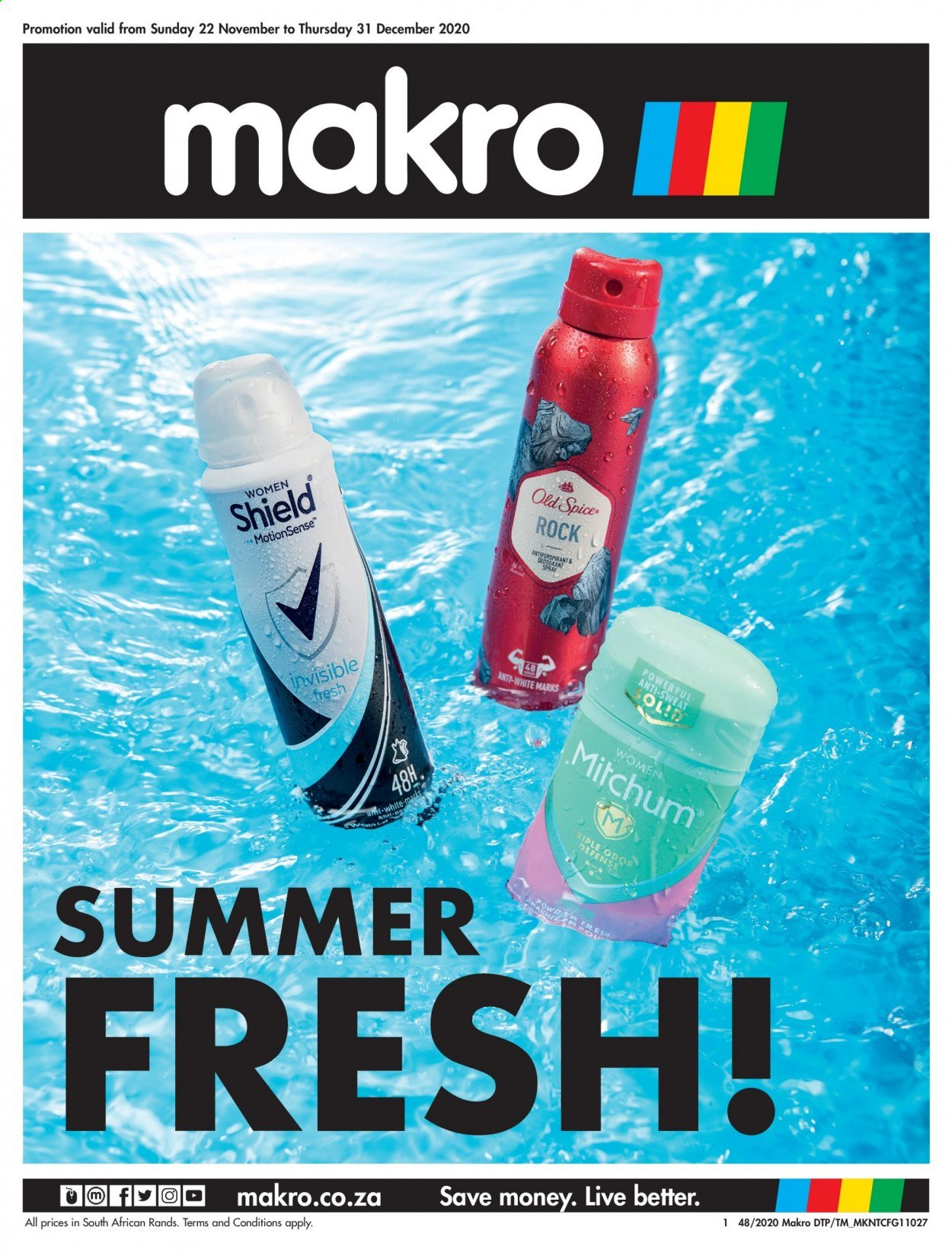 Makro catalogue  - 11.22.2020 - 12.31.2020 - Sales products - shield, Sol, Old Spice, anti-perspirant. Page 1.