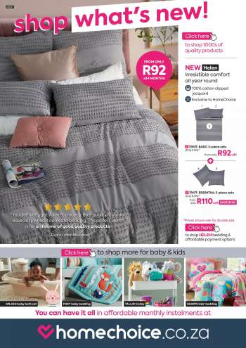 HomeChoice catalogue .