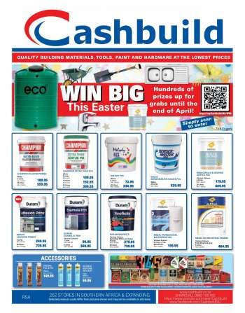 Cashbuild catalogue  - 03.22.2021 - 04.18.2021.