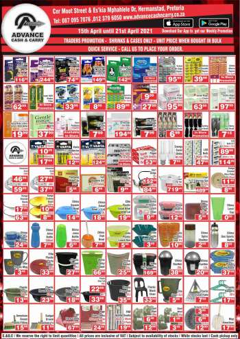 Advance Cash & Carry catalogue  - 04.15.2021 - 04.21.2021.