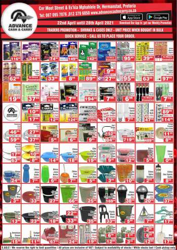 Advance Cash & Carry catalogue  - 04.22.2021 - 04.28.2021.