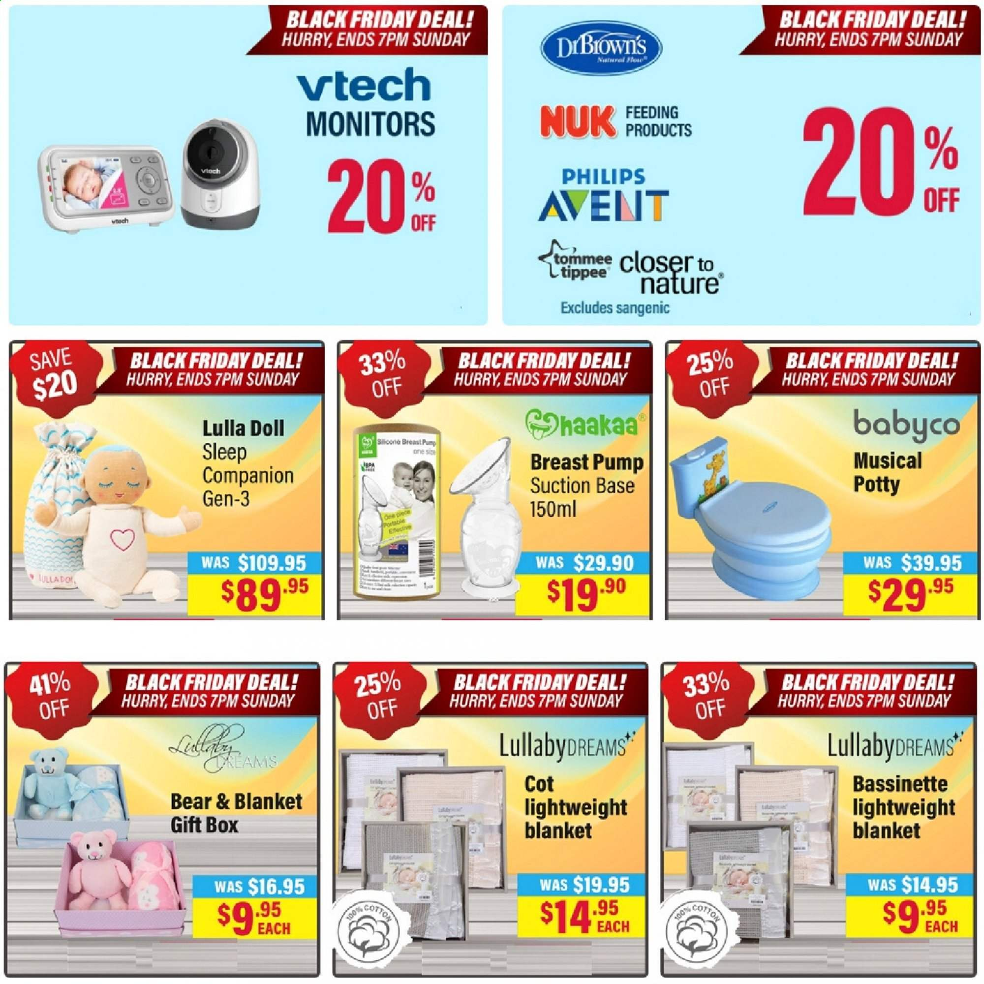 The Baby Factory mailer - 29.11.2019 - 01.12.2019 - Sales products - Nuk, doll, Vtech, Philips Avent, breast pump, Sangenic. Page 3.