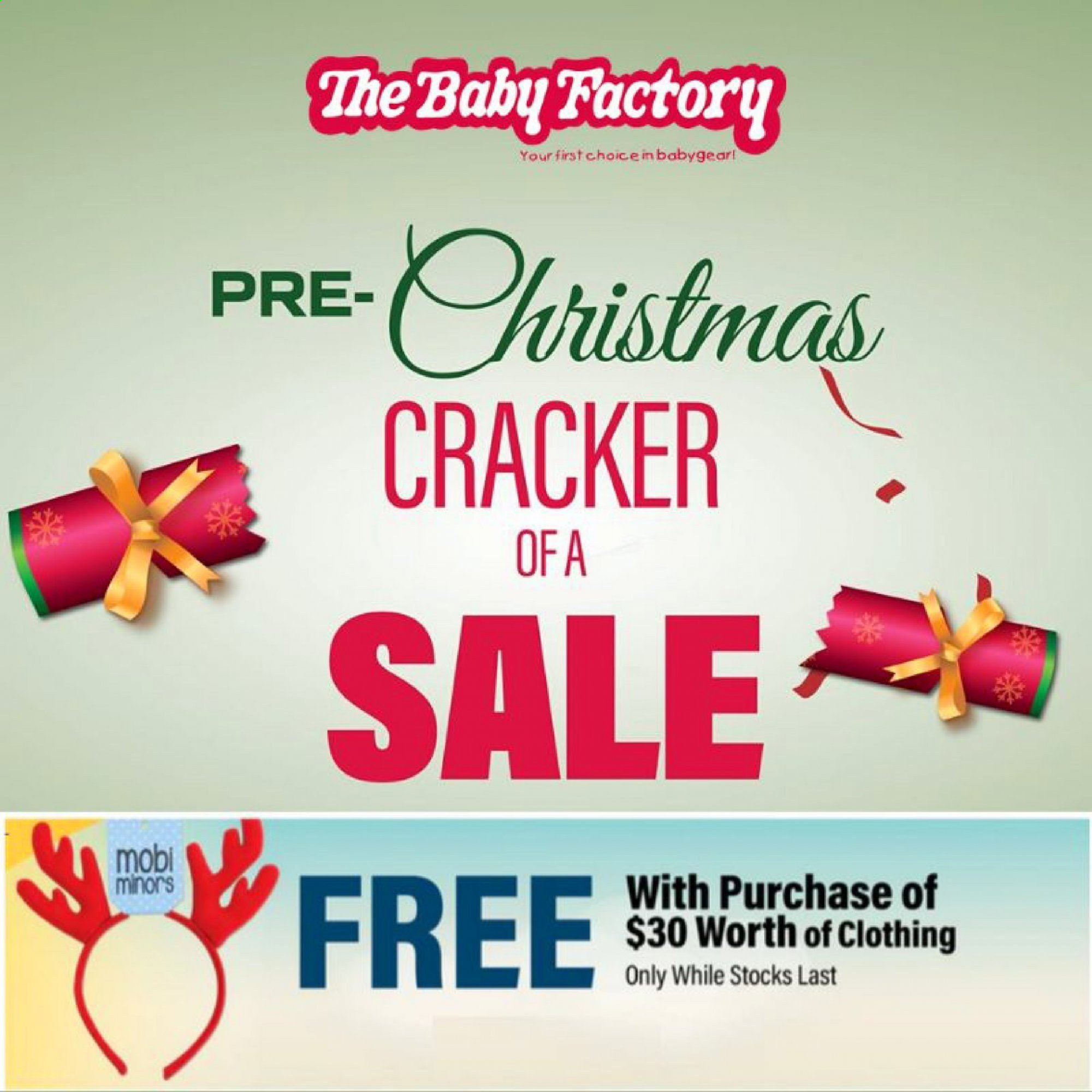 The Baby Factory mailer - 02.12.2019 - 24.12.2019 - Sales products - crackers. Page 1.