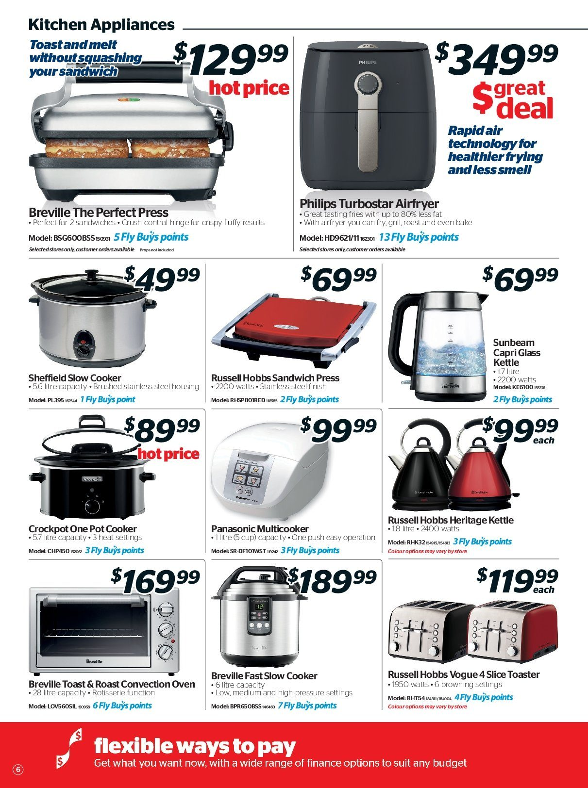 Noel Leeming mailer - 16.05.2018 - 29.05.2018 - Sales products - browning, cup, glass, grill, slow cooker, kitchen, philips, pot, panasonic, oven, sandwich, toaster, russell hobbs, kettle. Page 6.