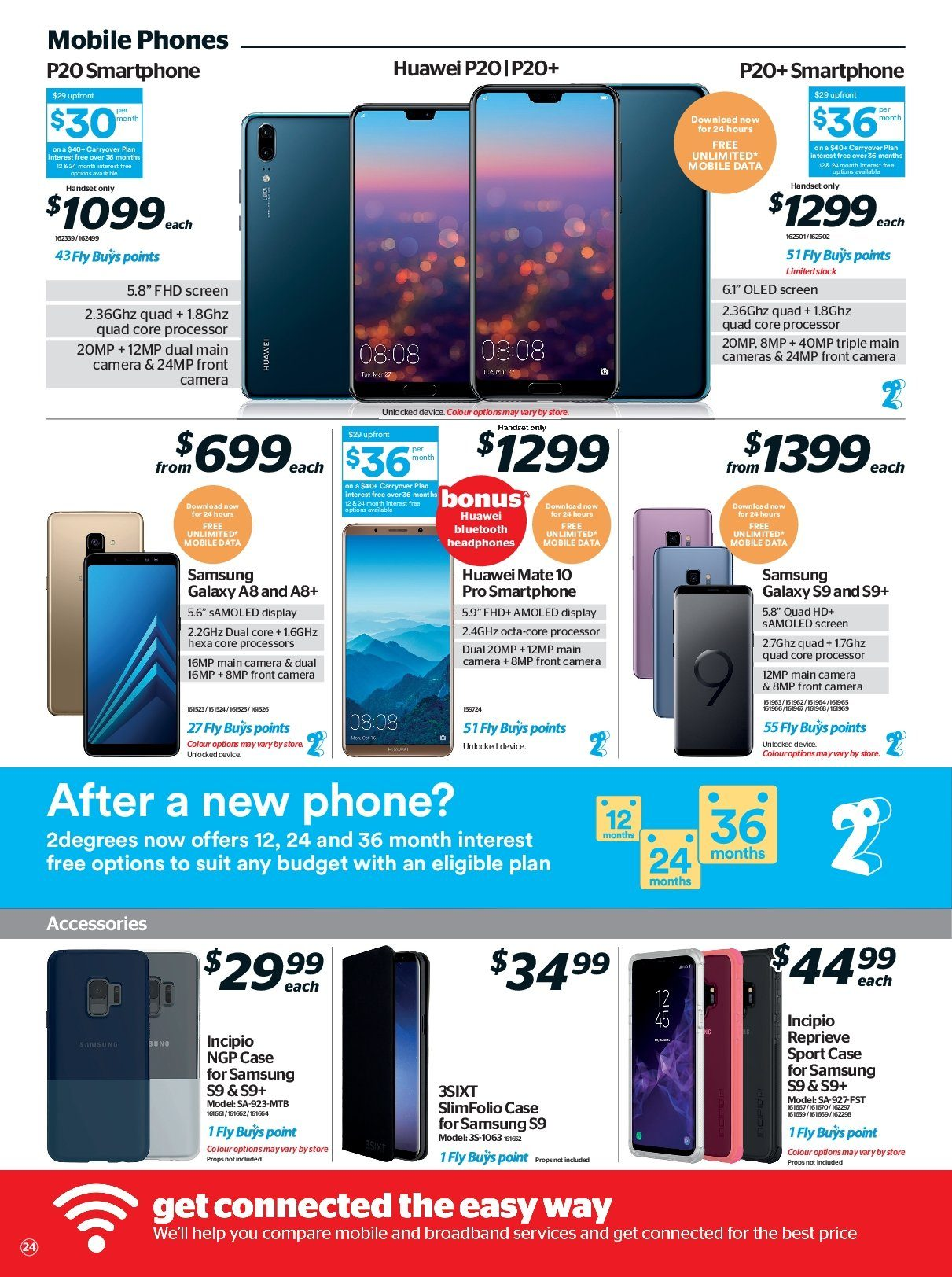 Noel Leeming mailer - 16.05.2018 - 29.05.2018 - Sales products - camera, case, galaxy, mate, samsung, huawei, processor, smartphone, samsung s9, headphones. Page 24.