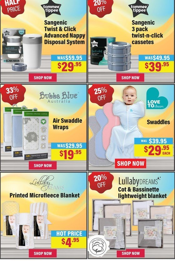 The Baby Factory mailer - 24.12.2019 - 01.01.2020 - Sales products - Sangenic, nappy disposal system, wrap. Page 6.