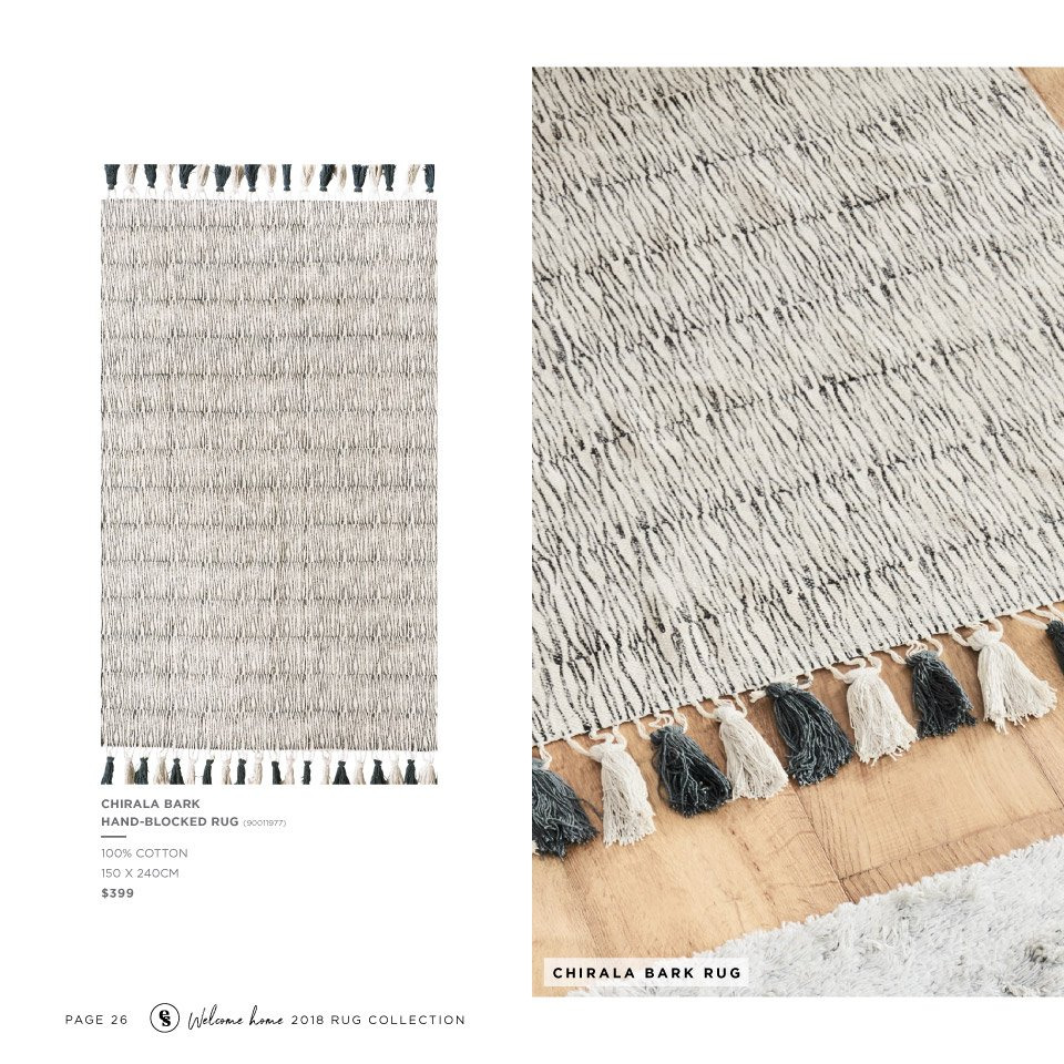 Early Settler mailer - 25.05.2018 - 31.12.2018 - Sales products - cotton, rug. Page 26.