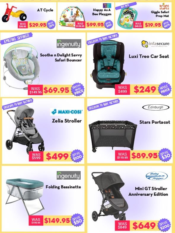 The Baby Factory mailer - 28.05.2018 - 14.06.2018 - Sales products - playgym, Maxi-Cosi, stroller, baby car seat. Page 3.