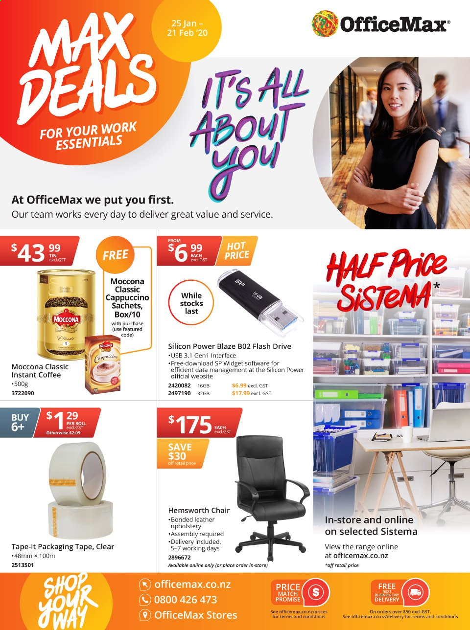 OfficeMax mailer  - 25.01.2020 - 21.02.2020. Page 1.