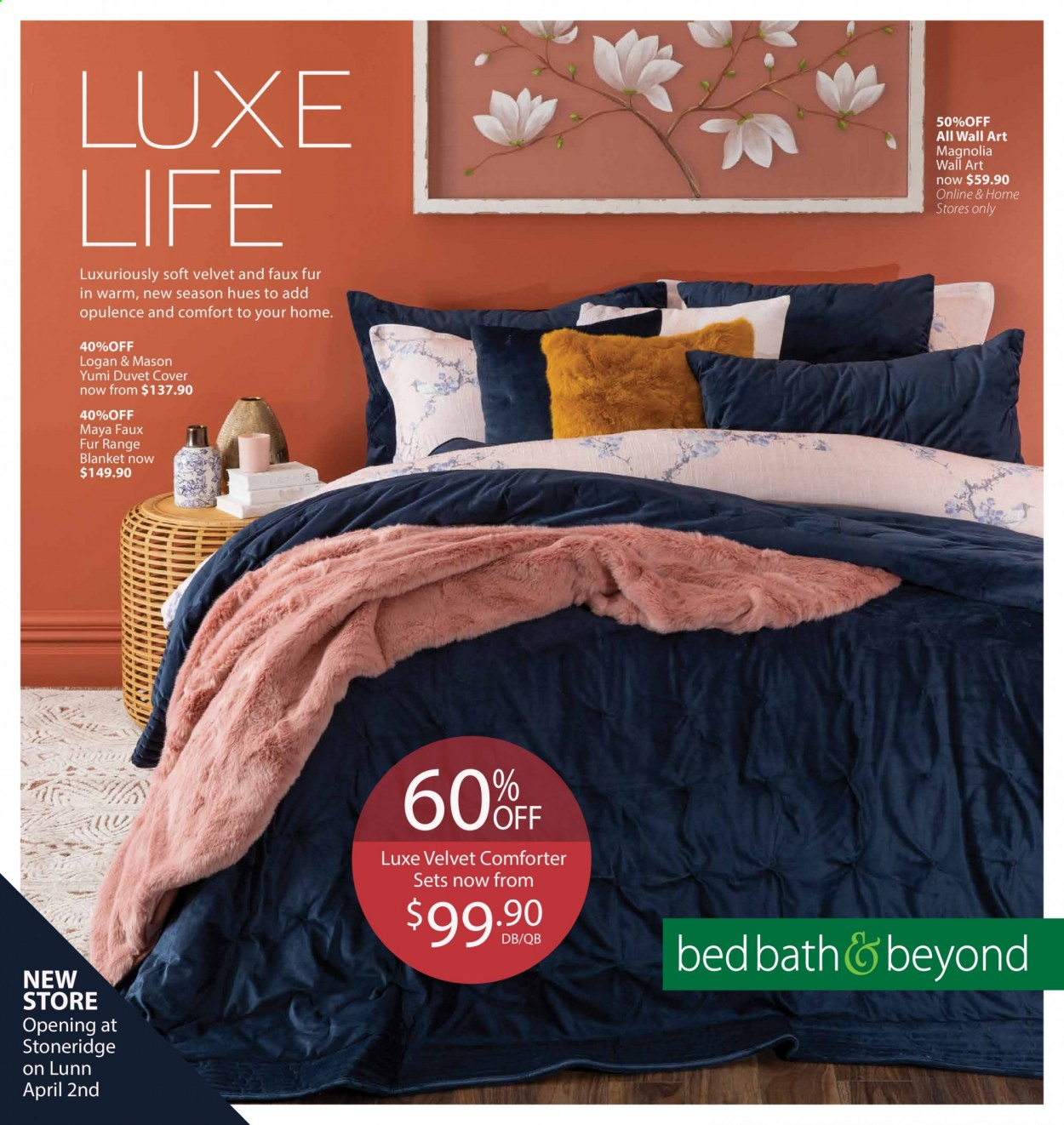 Bed Bath & Beyond mailer - 02.06.2020 - 14.06.2020 - Sales products - bed, blanket, duvet, comforter. Page 1.