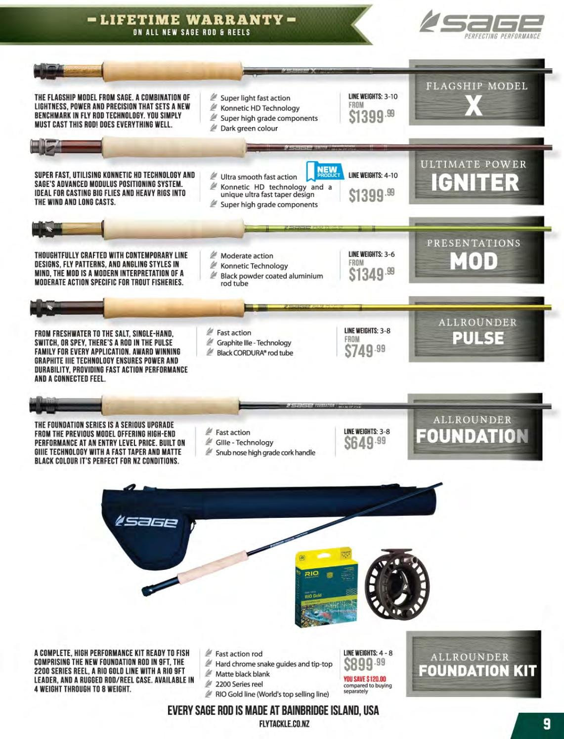 Hunting & Fishing mailer - Sales products - salt, reel. Page 9.