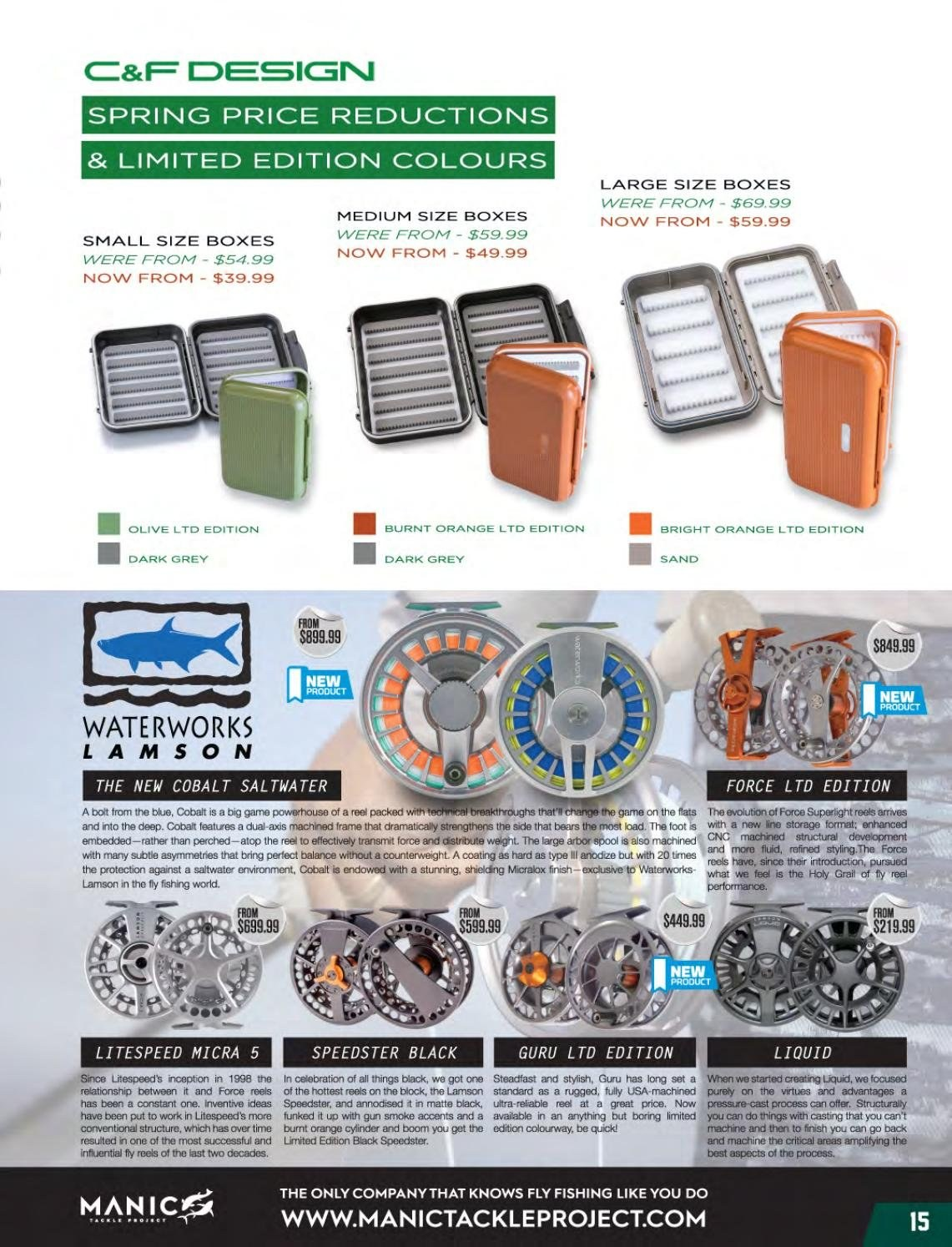 Hunting & Fishing mailer - Sales products - reel, Celebration. Page 15.