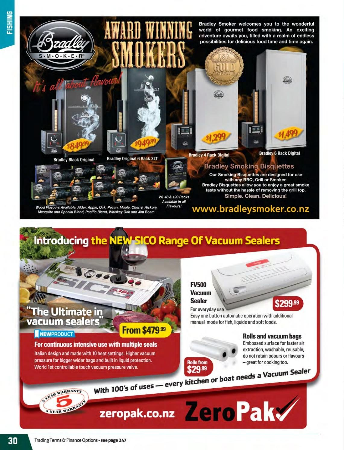 Hunting & Fishing mailer - Sales products - rolls, vacuum sealer. Page 30.
