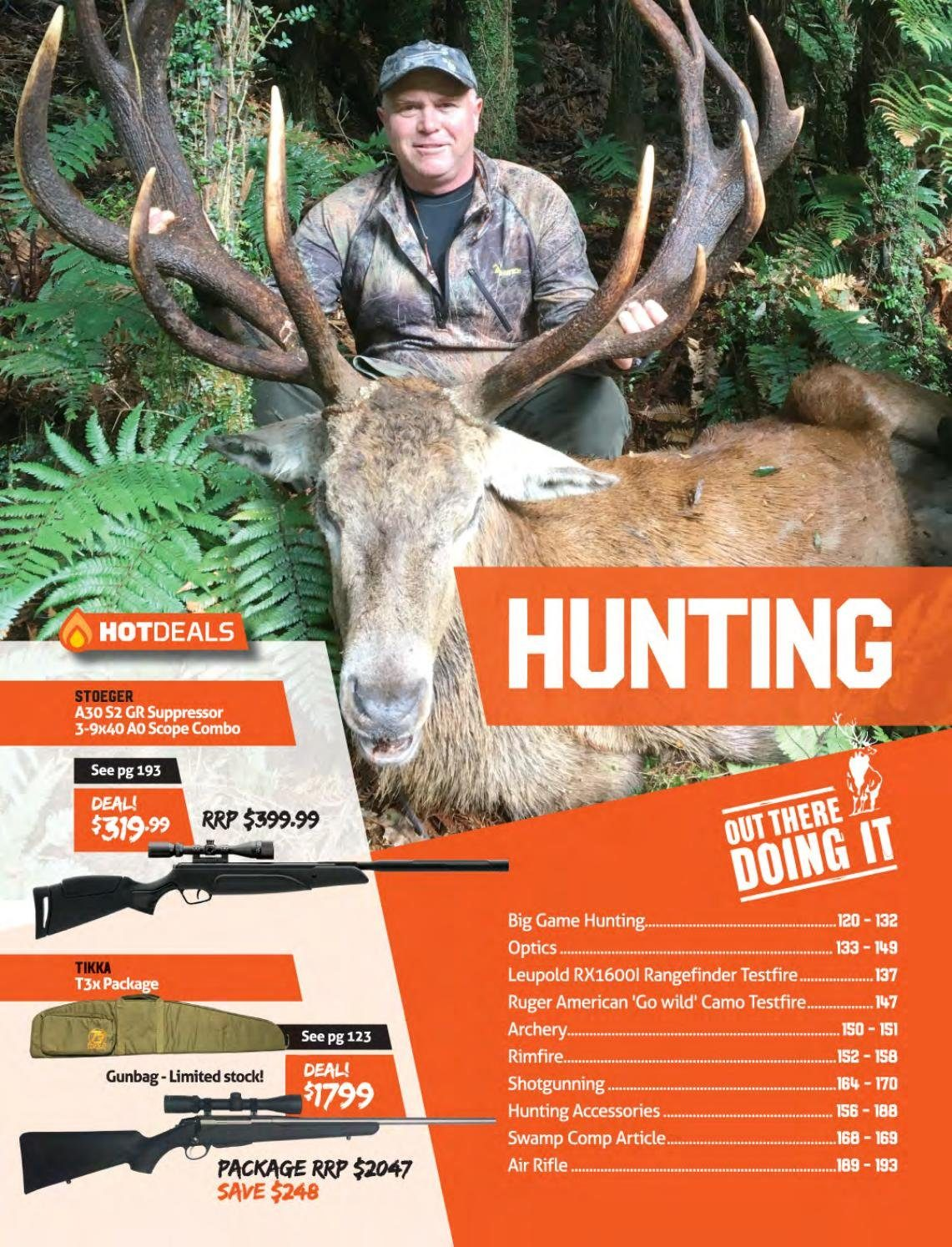 Hunting & Fishing mailer - Sales products - Stoeger. Page 119.