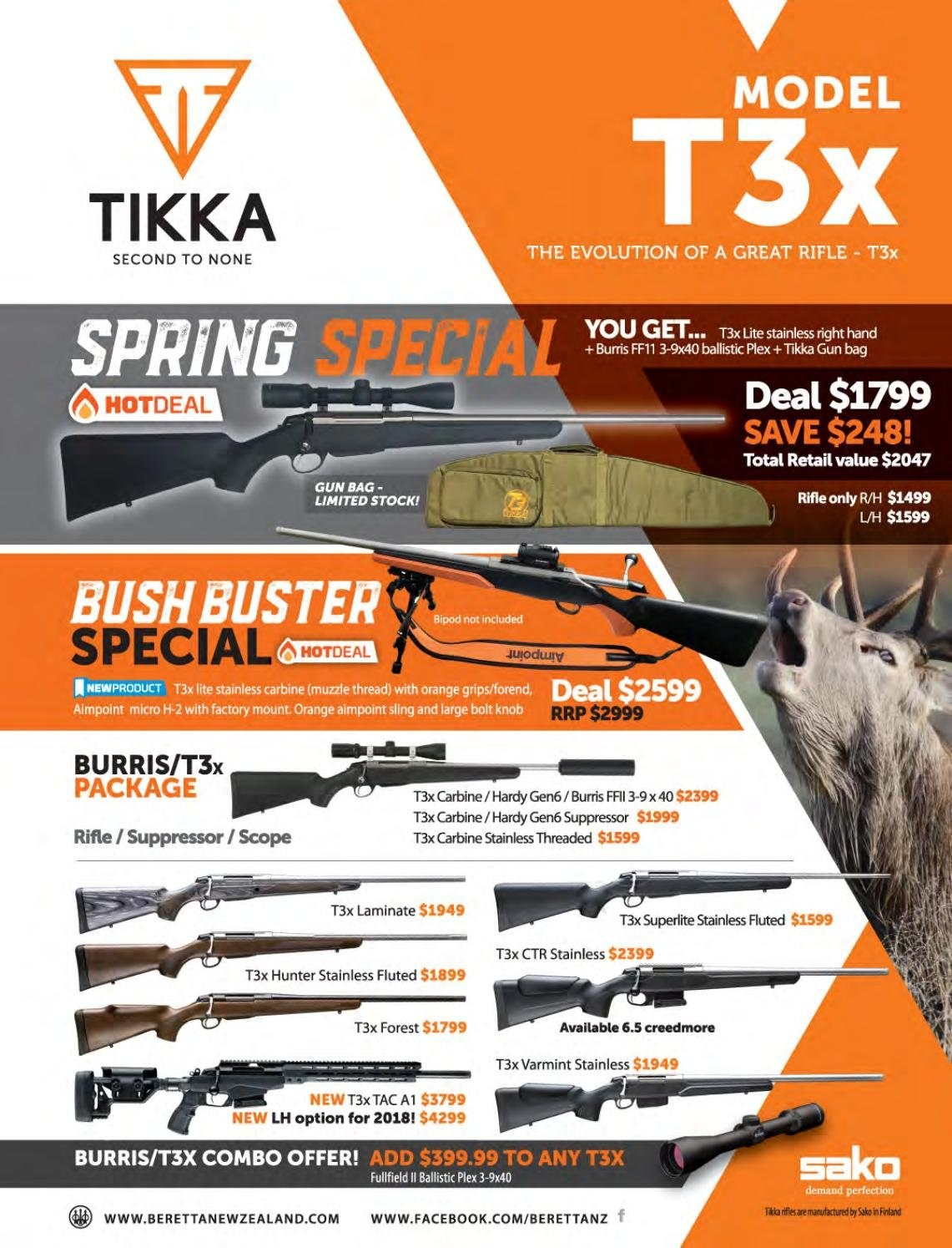 Hunting & Fishing mailer - Sales products - bipod, Hunter. Page 123.