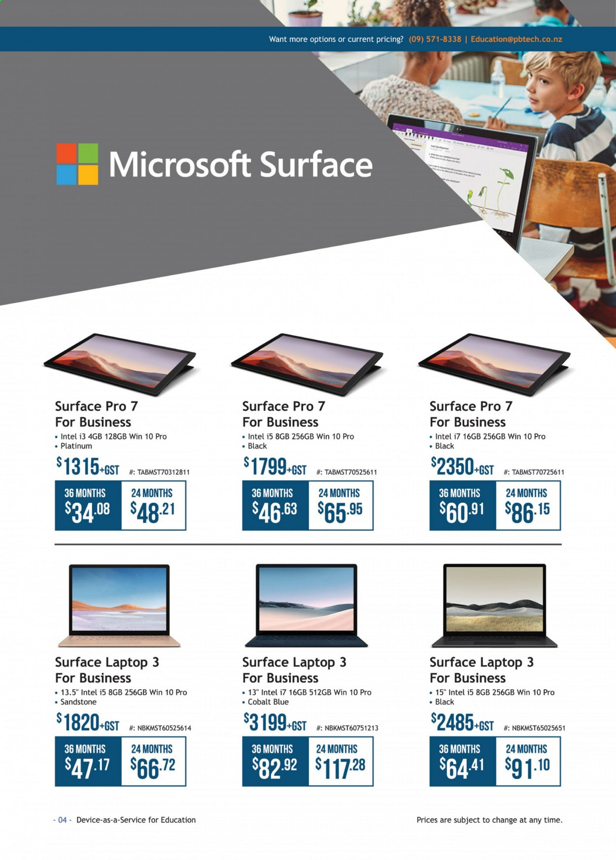 PB Tech mailer - Sales products - laptop, Intel. Page 4.
