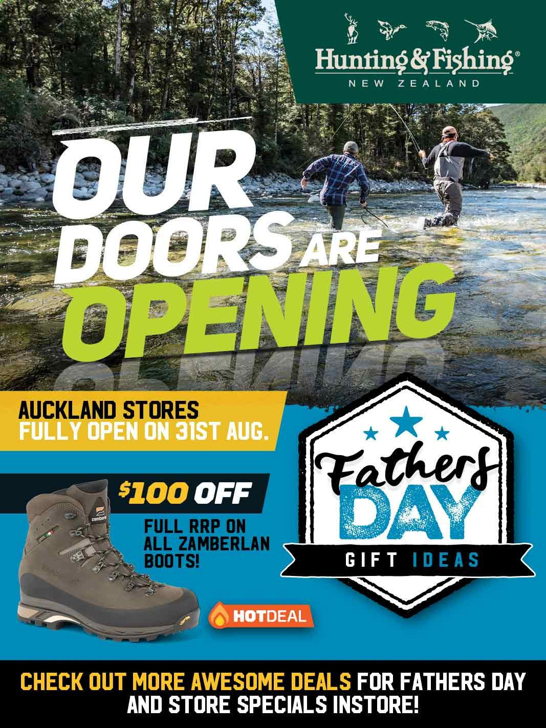 Hunting & Fishing mailer - 01.09.2020 - 06.09.2020 - Sales products - boots, door, fishing, doors. Page 1.