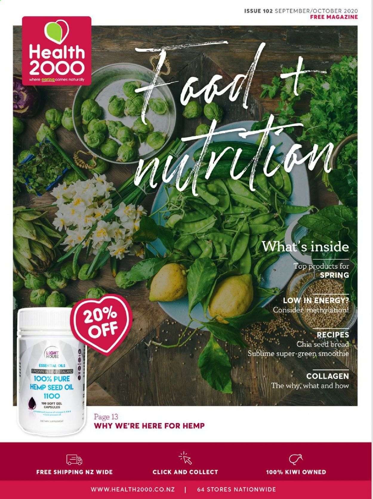 Health 2000 mailer - 01.09.2020 - 31.10.2020 - Sales products - seed, smoothie. Page 1.