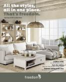 Freedom Furniture mailer - 23.08.2018 - 28.02.2019.