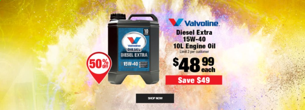 SuperCheap Auto mailer - Sales products - oil. Page 1.