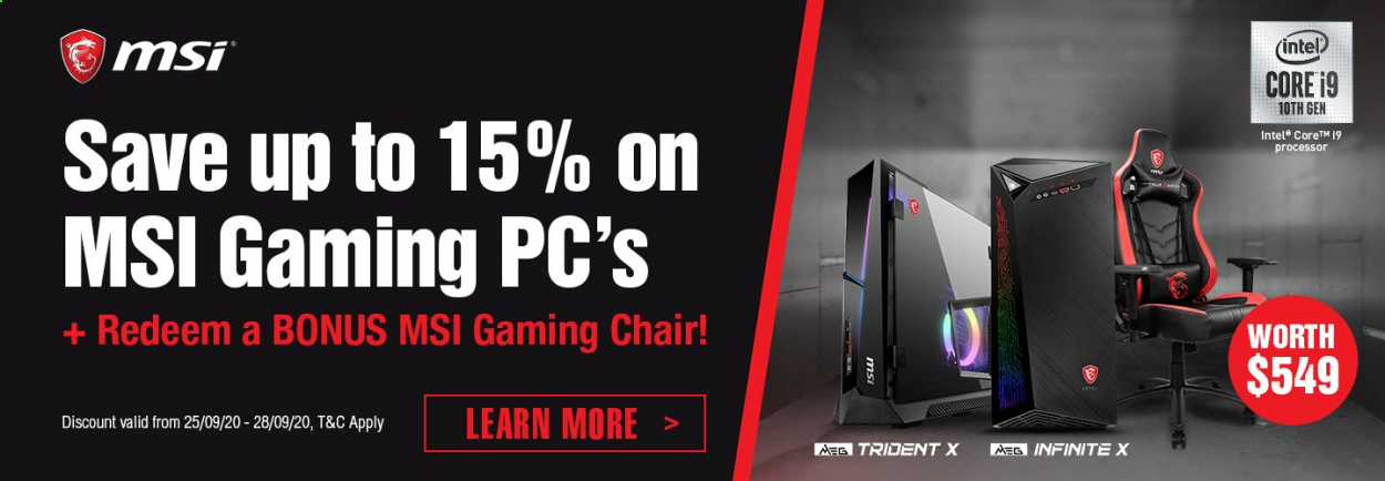 PB Tech mailer - 25.09.2020 - 28.09.2020 - Sales products - AEG, chair, Intel, gaming chair. Page 3.