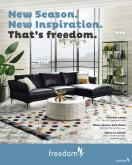 Freedom Furniture mailer.