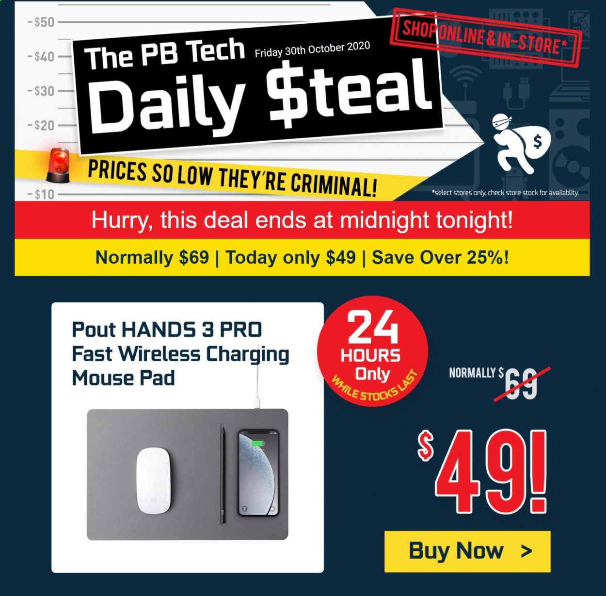 PB Tech mailer - 30.10.2020 - 30.10.2020 - Sales products - mouse, pad. Page 1.