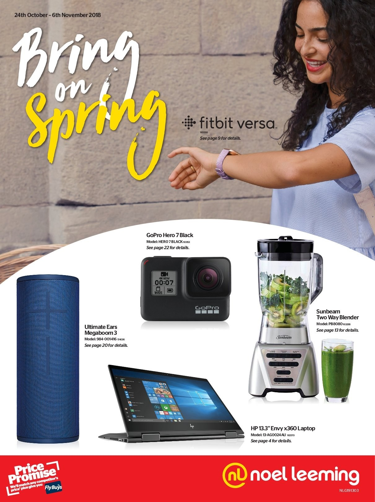 Noel Leeming mailer - 24.10.2018 - 06.11.2018 - Sales products - Fitbit, laptop, Ultimate Ears, GoPro, Sunbeam, blender. Page 1.