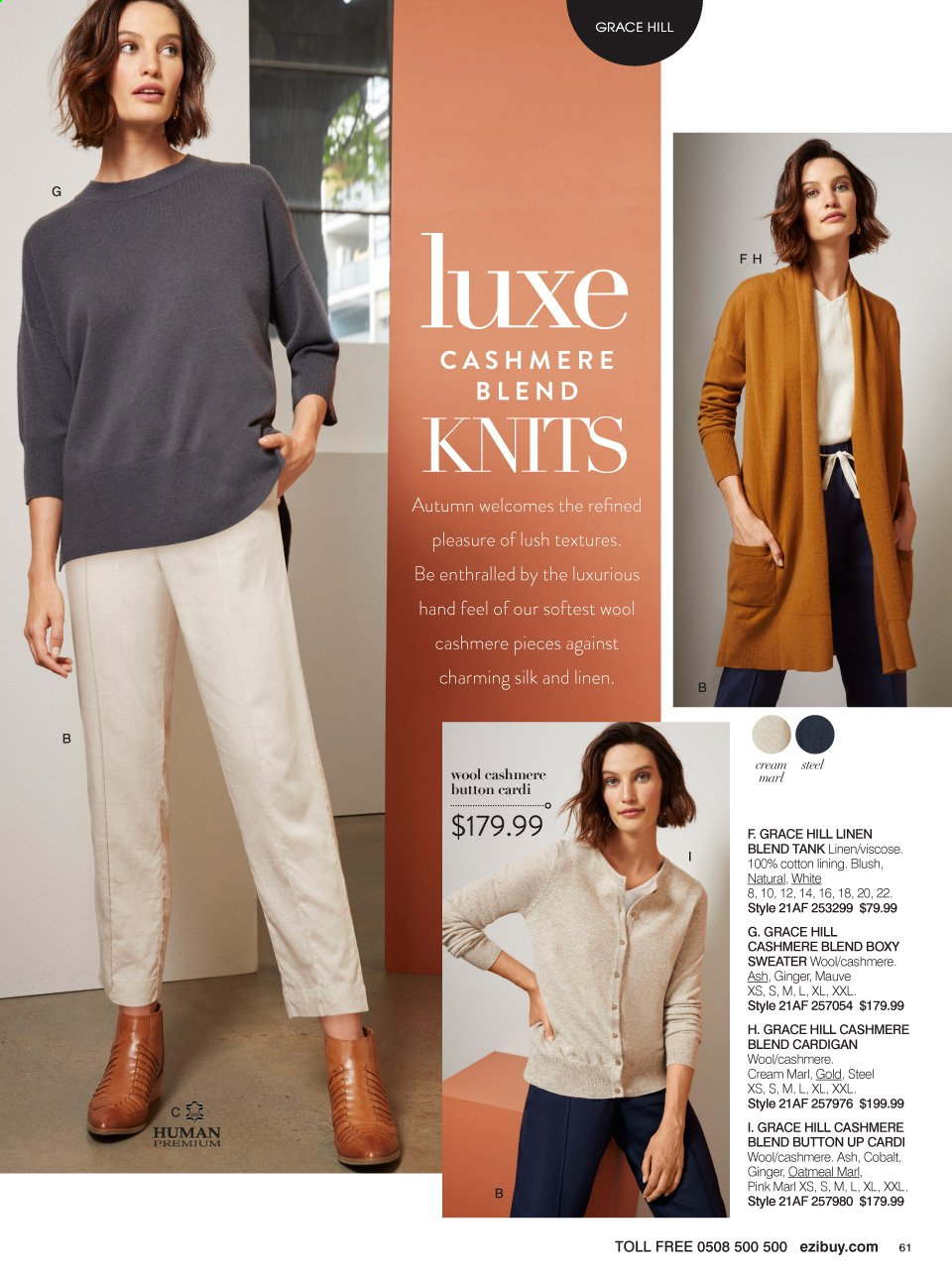 Ezibuy mailer - 01.03.2021 - 28.03.2021 - Sales products - Human Premium, cardigan, sweater. Page 61.