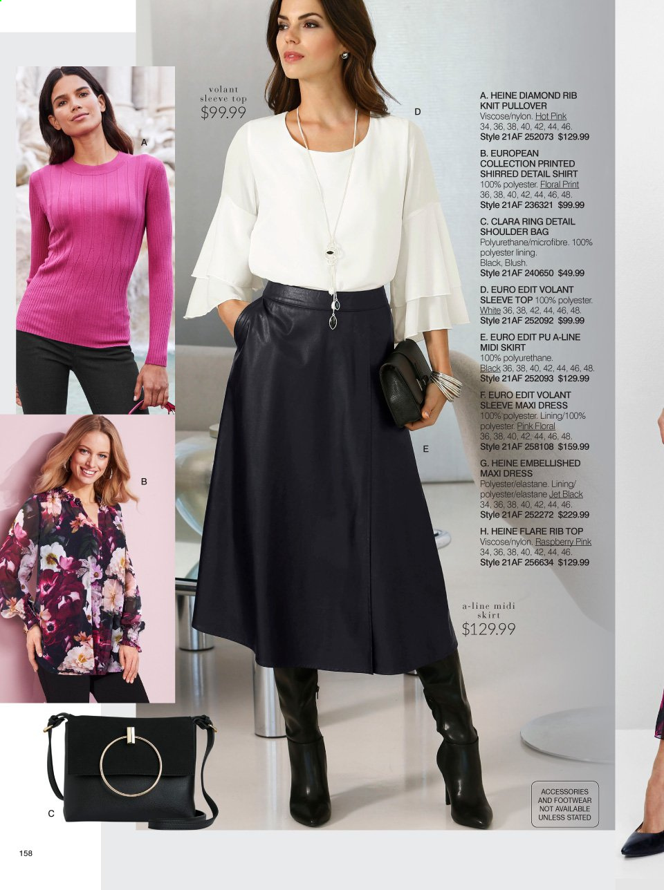 Ezibuy mailer - 01.03.2021 - 28.03.2021 - Sales products - skirt, dress, shirt, pullover, shoulder bag, bag. Page 158.